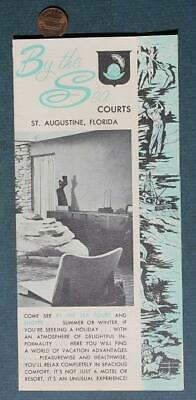1960s Era St.Augustine,Florida By The Sea Motor Court Hotel-Motel Brochure-NICE*