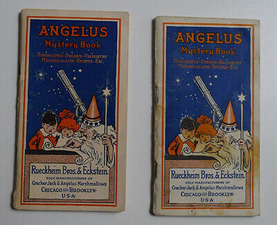 1916's Angelus Marshmallows / Cracker Jack Lot of 2 Mystery Book