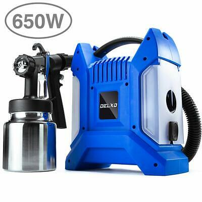 Delxo Paint Sprayer High Power HVLP Good Cooling Portable No Leaking 1000ml 650W