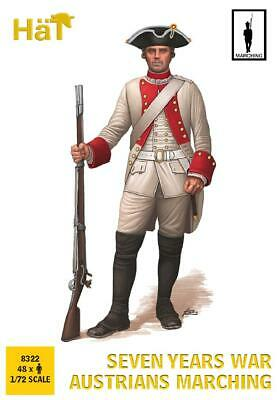 Hat 8322 7 Years War Austrian Marching Syw Infantry Set 1/72 Scale Austrians
