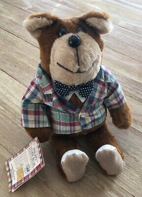 The Official Preppy Teddy Bear with Navy Bow tie 1981