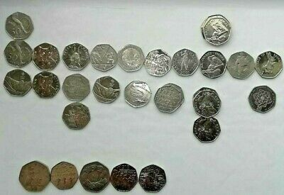 Fifty  Pence From 1969-2019 Large And Old Coins