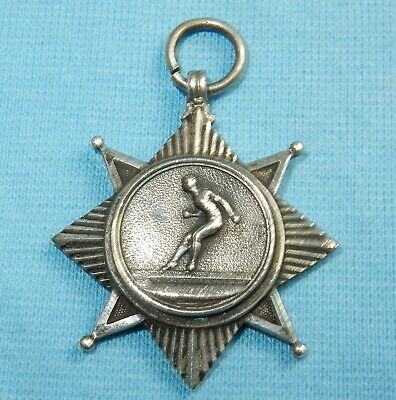 Super Antique Sterling Silver Sports Star Medal Fob - 9.5 G - Stunning