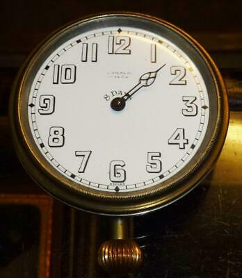 GWO 8 day J.C.Vickery (Brevet) clock for car? see all images missing glass/hand