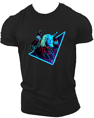 Black Widow Avengers Infinity War End Game Marvel Endgame Unisex T-Shirt Neon34