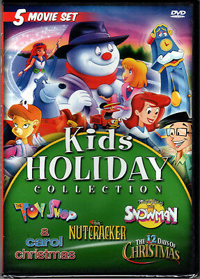 KID HOLIDAY COLLECTION on 5 MOVIE SET a DVD of CHILDREN Animated CHRISTMAS Video