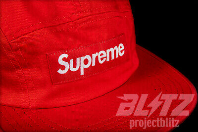 73241dd3 Supreme Washed Chino Twill Camp Cap Red Ss19 Black Natural Denim Box Logo  Hat