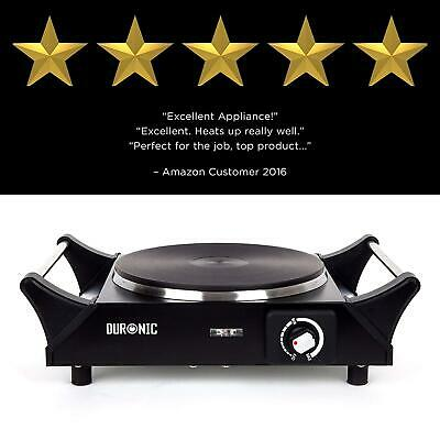 Single Hot Plate Electric Hob Portable Table Top Cooker Stainless Steel Quick