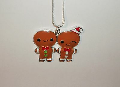 MR & MRS GINGERBREAD MAN Inspired Large Charm NECKLACE