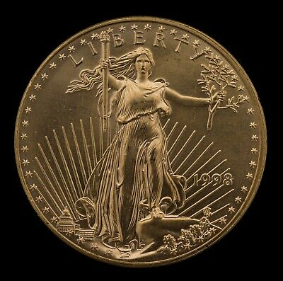 1998 - $50 1 Oz American Gold Eagle Coin