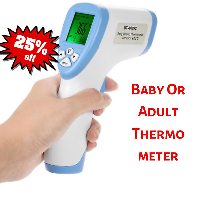 Digital IR Thermometer Infrared Baby Adult Non-contact Forehead LCD Laser Gun
