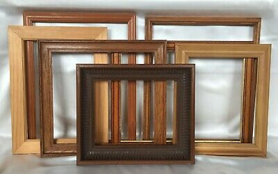 Lot of Large Wooden Open Picture Photo Frames Vintage
