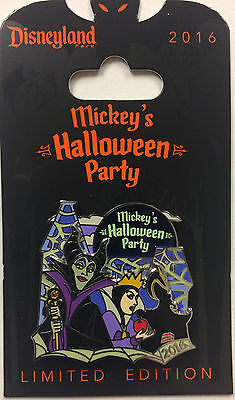 Disney Parks Mickey's Halloween Party Villains Evil Queen & Maleficent LE Pin