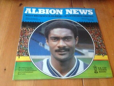 West Bromwich Albion V Scunthorpe United - Fa Cup Rd 4 - 28/1/1984