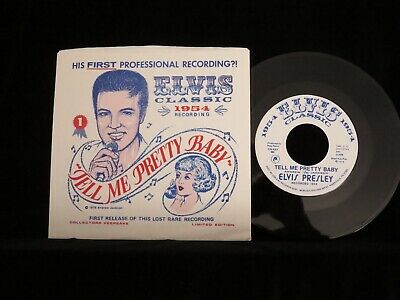 ELVIS PRESLEY?, Tell Me Pretty Baby USA Picture Sleeve 45