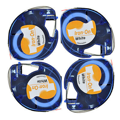 FABRIC IRON-ON TAPE Compatible for DYMO LetraTag Labels 18771 2PK