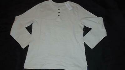 NEW Boys Size 7-8 Gymboree Shirt Cream Henley Long Sleeve 2018 Line MSRP $24 NWT