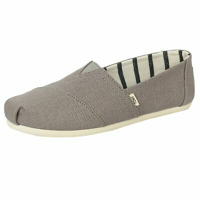 Toms Shoes Classic Heritage Womens Plimsolls Morning Dove Espadrilles