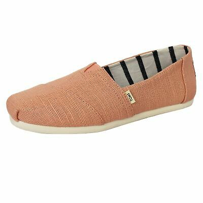 Toms Shoes Classic Heritage Womens Plimsolls Coral Pink Espadrilles