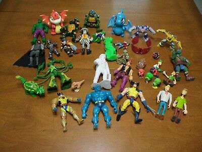 Boys Junk Drawer Lot Action Figures Wolverine Neopets TMNT More
