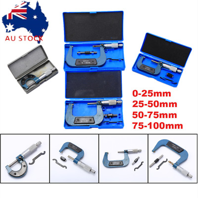 Micrometer Set 4pc 0-100MM Outside Caliper Precision Measuring Tool with box