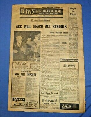 1967 The Age Melbourne TV Television Radio Guide Record Review 8 Pg of 12 Pg