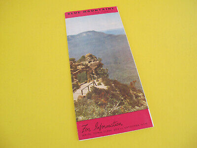 NSW The Blue Mountains Pictorial older Brochure with map