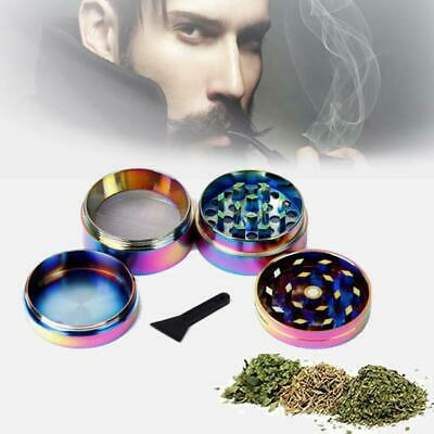 4-Piece  Colorful Stainless Steel Spice Herb Grinder Cylinder Tobacco Mill