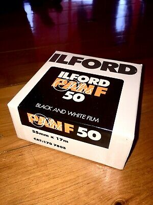 Ilford Pan F 50 Plus Black and White Negative Film (35mm X 17m) Exp 2005. Tested