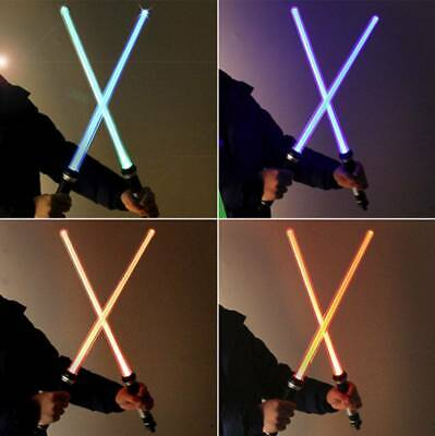 1 Pair Star Wars Lightsaber Led Flashing Light Saber Sword Toy Cosplay Weapon AU