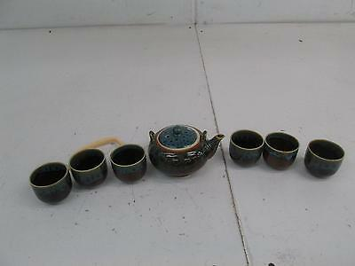 Eternal Chinese Porcelain Kung Fu Tea Set,Ceramic Teapot and Cups Sapphire blue