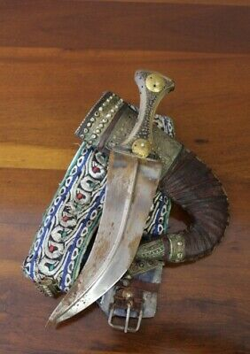 amazing sword antique authentic Middle Easter Yemeni Jimbaya dagger knife