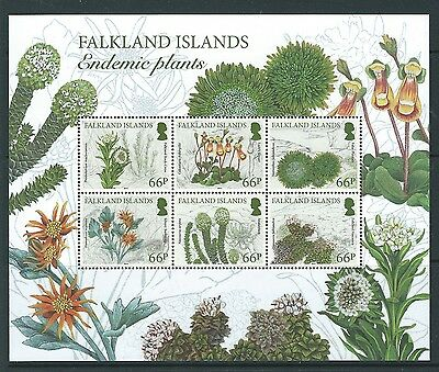 Falkland Islands 2016  Endemic Plants Miniature Sheet Unmounted Mint, Mnh