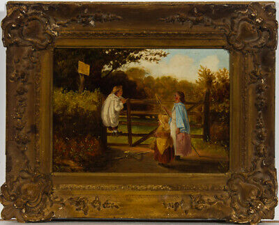 Framed Early 20th Century Oil - The Trespassers