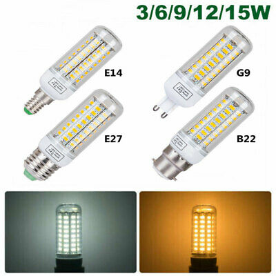 5/10x E27/E14/B22/G9 LED Corn Light Bulbs 15W 12W 9W 6W 3W 5730 Spotlight Lamp