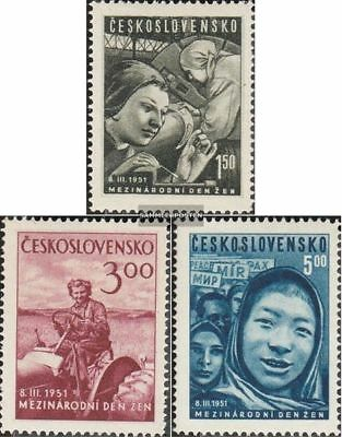 Czechoslovakia 650-652 (complete issue) fine used / cancelled 1951 Women