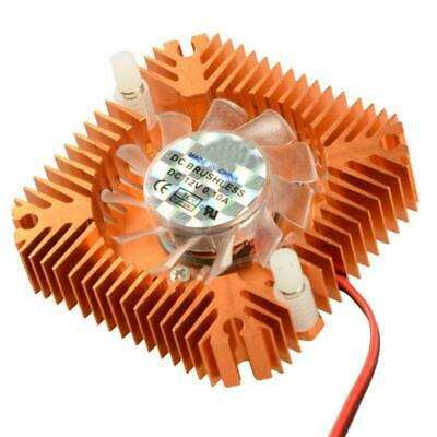 12V 2Pin 55mm Low Noise VGA Video Card Cooling Fan Copper Plated CPU Heatsink AU