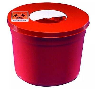 Sharps Container, Round, 5 Quart, Red, WH-8950SA Case 20