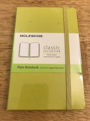 New moleskine classic collection Hard cover Plain Yellow notebook - pocket 9x14