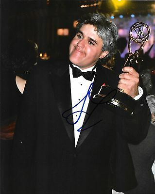 JAY LENO - HAND SIGNED 8x10 PHOTO PICTURE AUTHENTIC AUTOGRAPH w/ COA