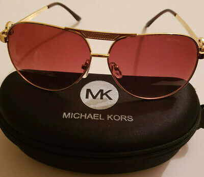 ef07af77fe557 NEW MICHAEL KORS MK 5001 10011U GOLD AUTHENTIC SUNGLASSES Fast Shipping!