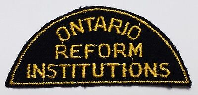 1950'S 1960'S Ontario Reform Institutions Sew On Uniform Patch Corrections Jail
