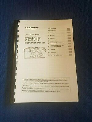 Olympus Pen F Digital Camera Printed Instruction Guide 184 Pages (A5)
