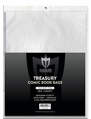 Lot of 500 Max Pro NON-Resealable Treasury Comic Book Bags Acid Free Archival