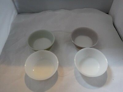 "Set Of 4 Vtg Federal Glass 5"" Soup/ Cereal Bowls"