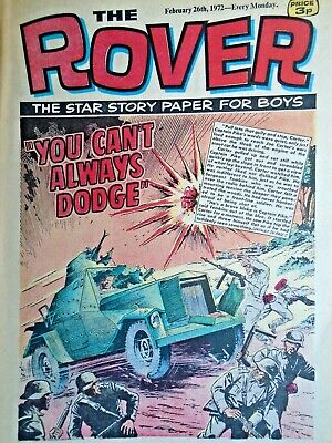 the rover comic february 26th  1972 no reserve you cant always dodge, goals coun