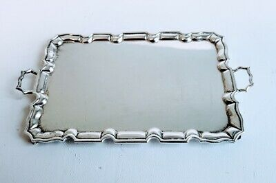 W.B. Meyers Handled Chippendale Style Waiter or Tea Tray Sterling Silver, Rare