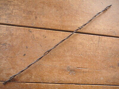 BAKERS FLAT BARBS on ROUND & GROOVED TEARDROP LINES  -  ANTIQUE BARBED BARB WIRE