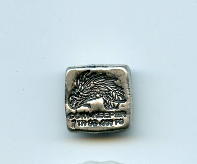 "Coin Keeper ""Dragon"" hand poured 1 TROY OZ SILVER  Bar (.999 Fine Silver)"