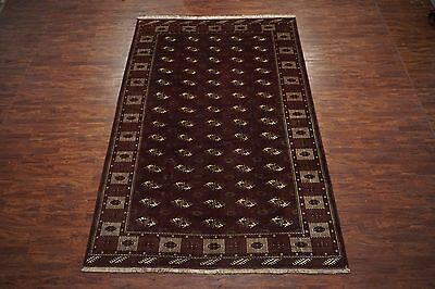Antique 9X13 Turkoman Tribal Bukhara Hand-Knotted Wool Area Rug (8.6 x 12.9)